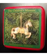 Children's Museum Christmas Ornament Porcelain Replica Carousel Horse Me... - $13.99
