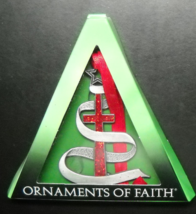 Ornaments of Faith Christmas Ornaments 2010 Lot of Two The Cross of Christ Boxed - $10.99