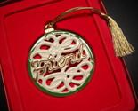 Lenox Christmas Ornament For My Friend Porcelain Gold Green White Original Box
