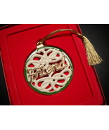 Lenox Christmas Ornament For My Friend Porcelain Gold Green White Origin... - $8.99