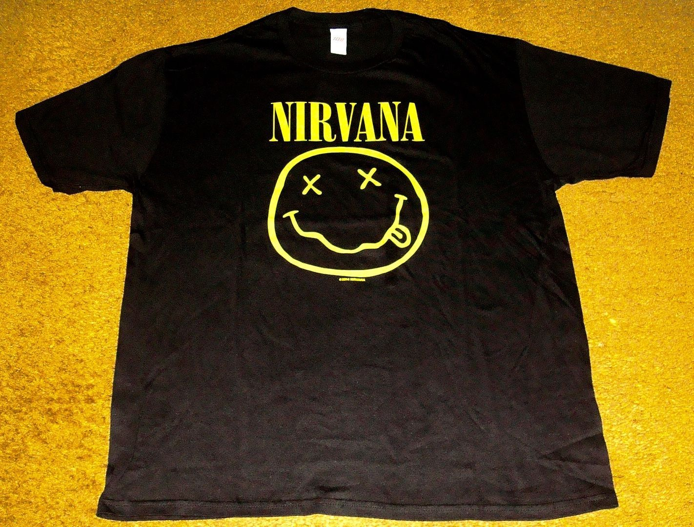 Primary image for NIRVANA T-SHIRT BRAND NEW!  SIZE LARGE!   ROCK & ROLL!