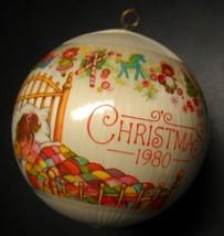 Hallmark Christmas Ornament 1980 Granddaughter with Christmas Dreams Sat... - $8.99