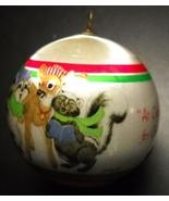 WWA Christmas Ornament 1981 Caroling Animals Designers Collection Satin ... - $6.99