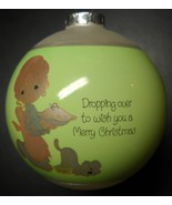 Enesco Precious Moments Christmas Ornament Dropping Over To Wish You 198... - $10.99