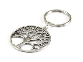 Tree of Life Silver Metal Key Chain  - $5.00