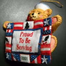 American Greetings Christmas Ornament 2001 Proud To Serve 6th In Operati... - $10.99