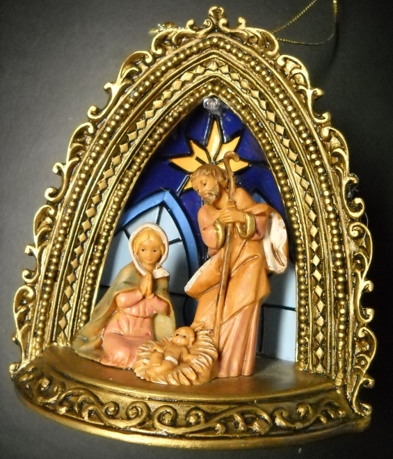 Primary image for Fontanini Christmas Ornament 2004 Lighted Arch with Holy Family Nativity Boxed