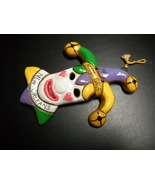 New Orleans Mardi Gras Christmas Ornament 1996 Jester Fool in White Face  - $5.99