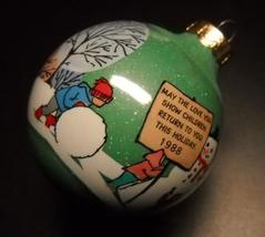 Hallmark Keepsake Christmas Ornament 1988 Babysitter Green Glass Boxed - $6.99