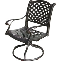 CAST ALUMINUM OUTDOOR PATIO 9PC SET 8-DINING CHAIRS ROUND EGG TABLE image 2