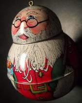 Hallmark Keepsake Ornament 1991 Jolly Wolly Santa Pressed Tin in Orignal... - $13.99