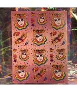 ⚡️SALE  S245 Lisa Frank Full Sticker Sheet MASKS CLOWN MARDI GRAS - $32.33