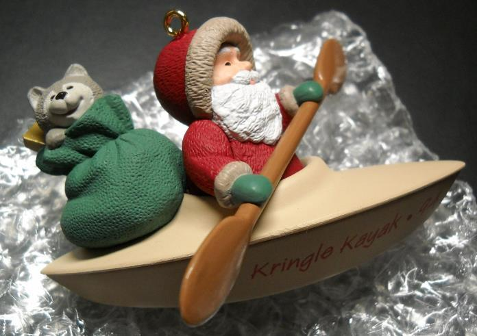 Primary image for Hallmark Keepsake Christmas Ornament 1994 Kringle's Kayak Handcrafted Boxed