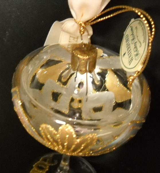 Waterford Holiday Heirlooms Christmas Ornament New Years Toast Mouth Blown Glass image 2