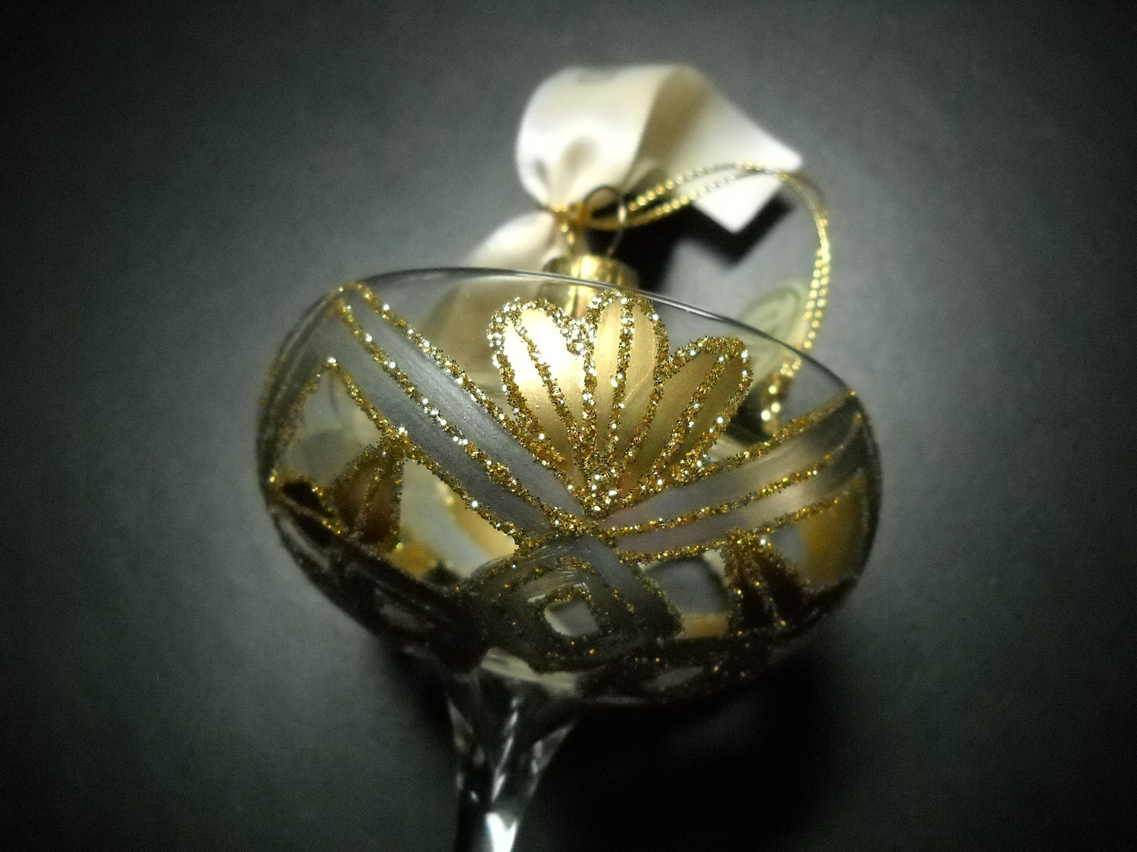 Waterford Holiday Heirlooms Christmas Ornament New Years Toast Mouth Blown Glass image 3