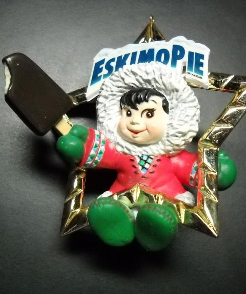 Primary image for Carlton Cards Heirloom Christmas Ornament 1998 Eskimo Pie North Pole Treat Box