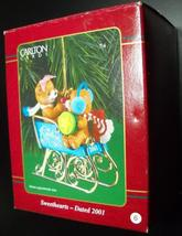 Carlton Cards Heirloom Collection 2001 Sweethearts Bears Blue Gold Sled ... - $10.99