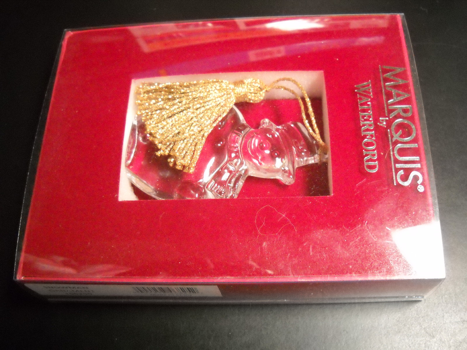 Marquis by Waterford Christmas Ornament Snowman with Golden Tassel Original Box image 5