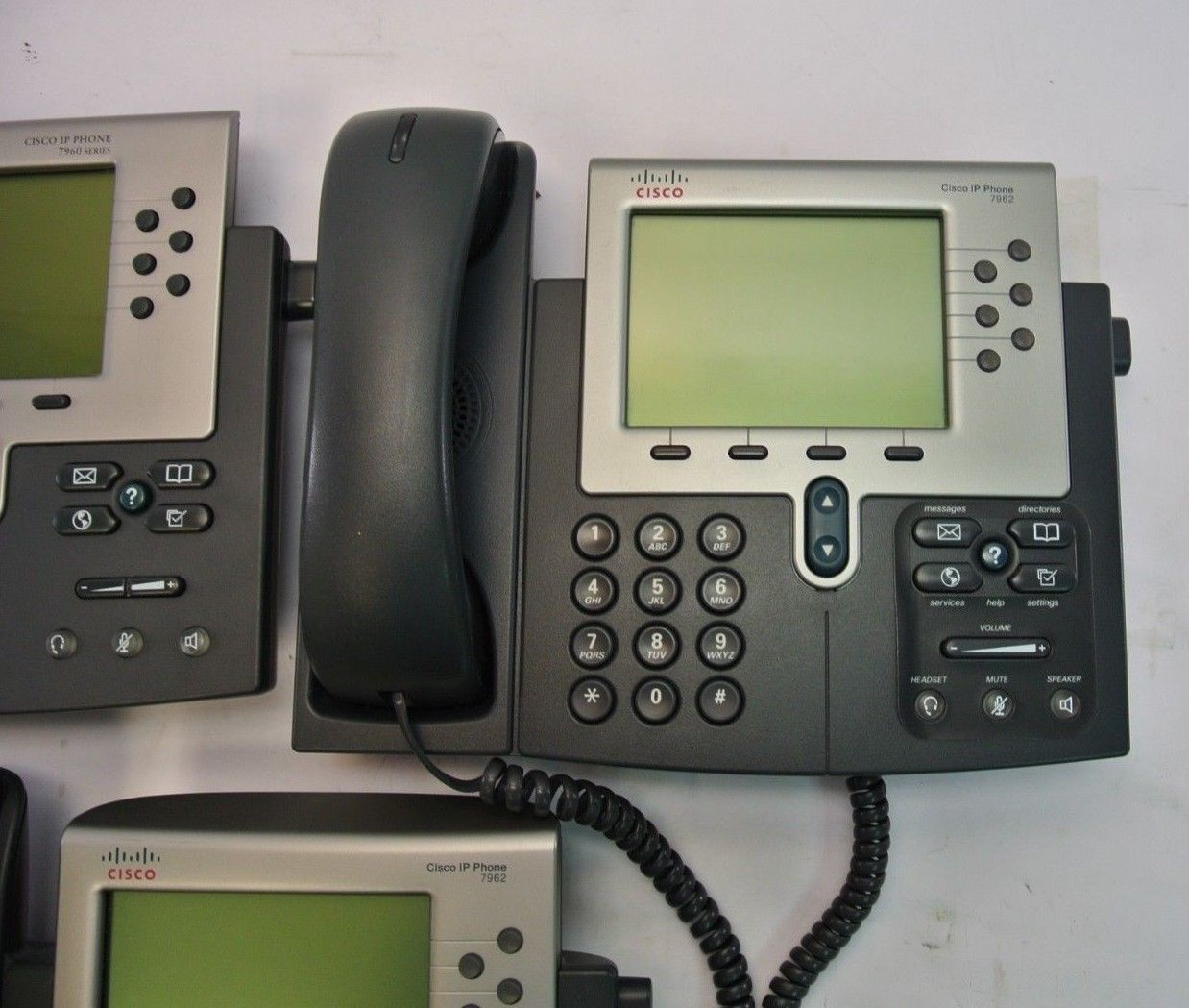 Lot 3 Cisco IP Phones, 7960, 7962, Cleaned & and 50 similar