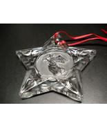 WMF Lead Crystal Angel in Star Christmas Ornament Germany in Original Box - $15.99