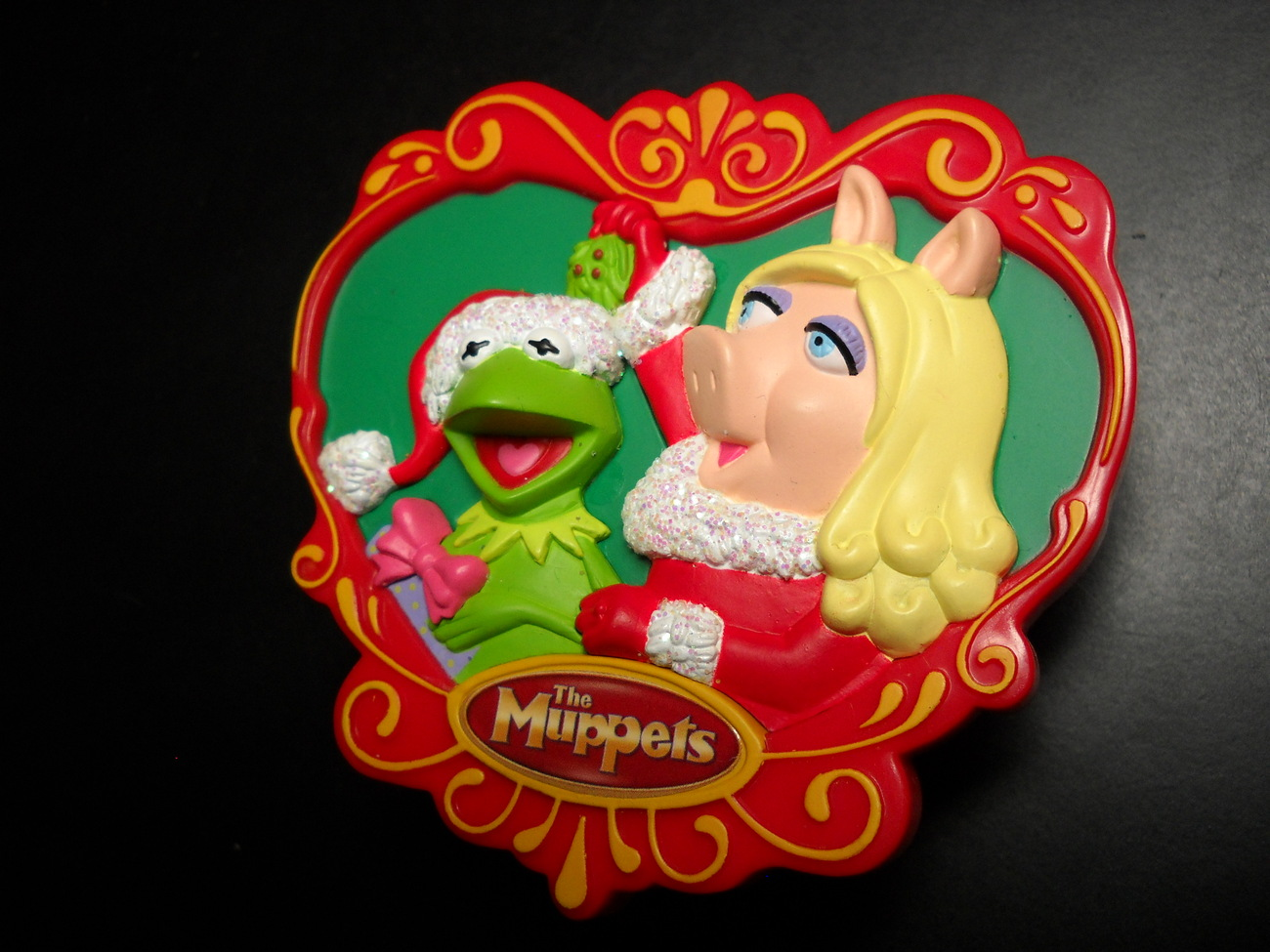 Primary image for Carlton Cards Christmas Ornament 2007 The Muppet Movie Miss Piggy Kermit Sound