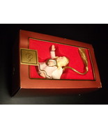 Lenox Christmas Ornament Blonde Angel with Harp and Halo Boxed White Golds - $15.99