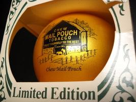 Keystone Mail Pouch Tobacco Bulb Christmas Ornament Guernsey 1993 Original Box - $8.99