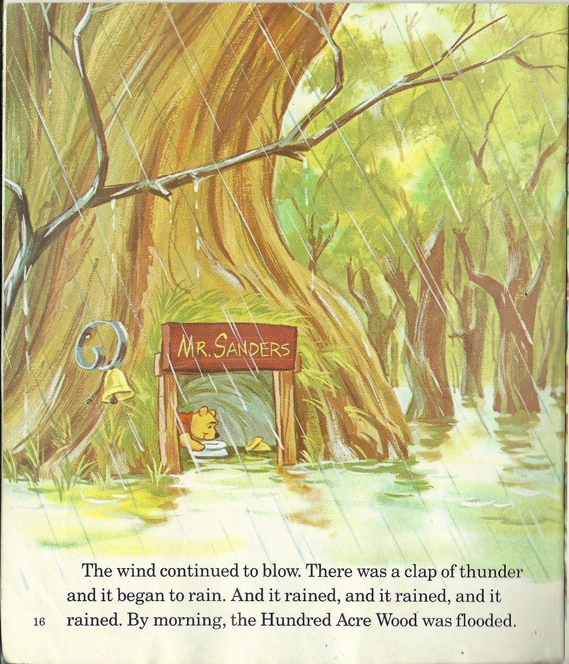 Winnie The Pooh And The Blustery Day Walt Disney Softcover Book