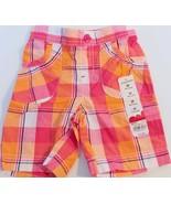 Jumping Beans Girls Toddler Bermuda Plaid Orange White Shorts - $11.99