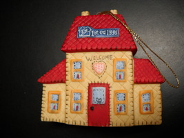 Lang and Wise Ornaments 1998 Welcome Home Features Artwork of Ellen Stouffer Box - $12.99