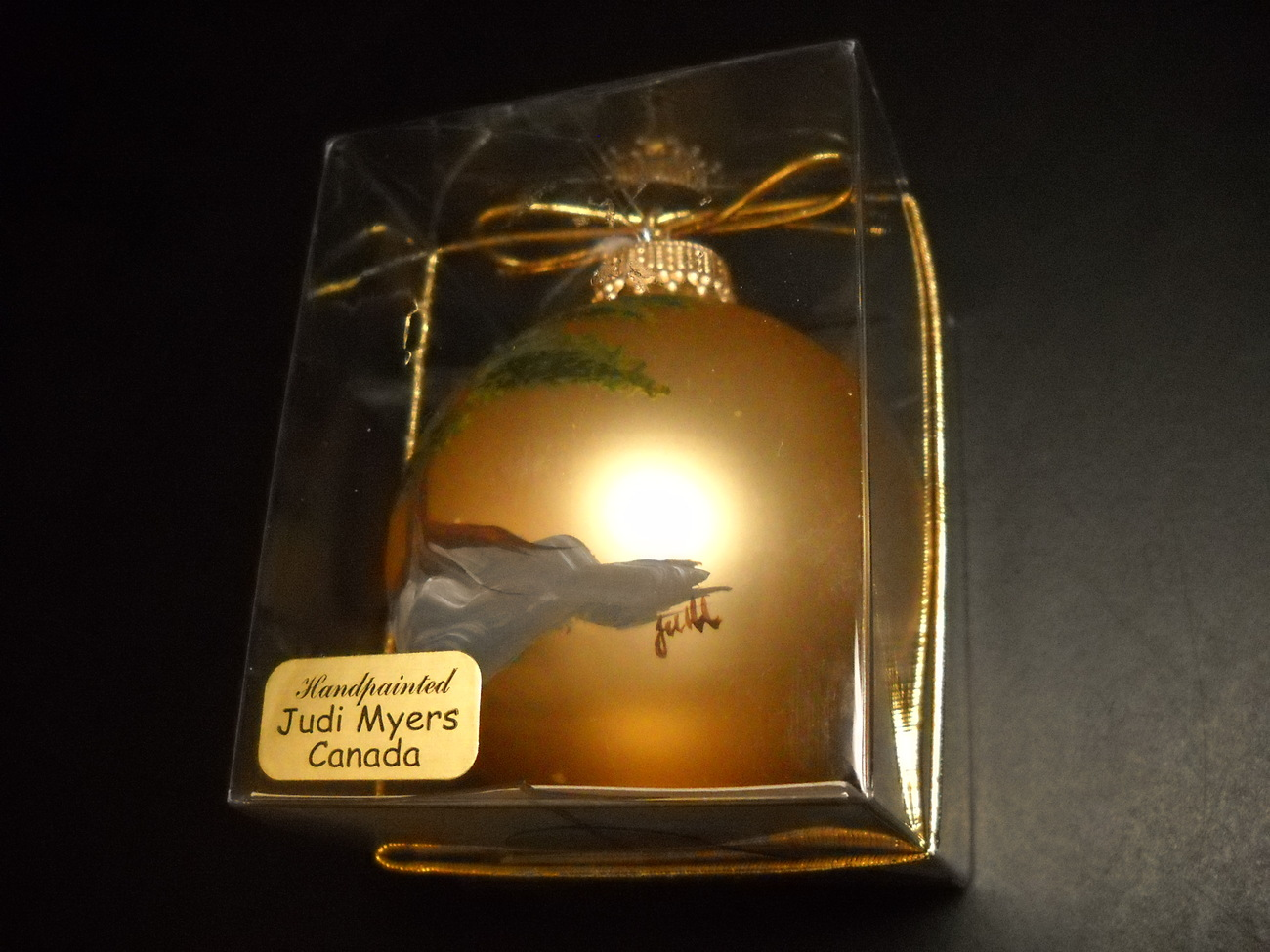 Primary image for Judy Myers Canada Handpainted Christmas Ornament Parry Sound Ontario Boxed Golds