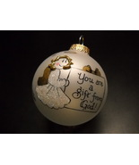 Heart Gifts Handpainted Christmas Ornament You Are A Gift From God Origi... - $11.99
