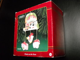 Carlton Cards Heirloom Ornament 1999 Charm On The Farm Boxed Pig Lamb CX... - $12.99