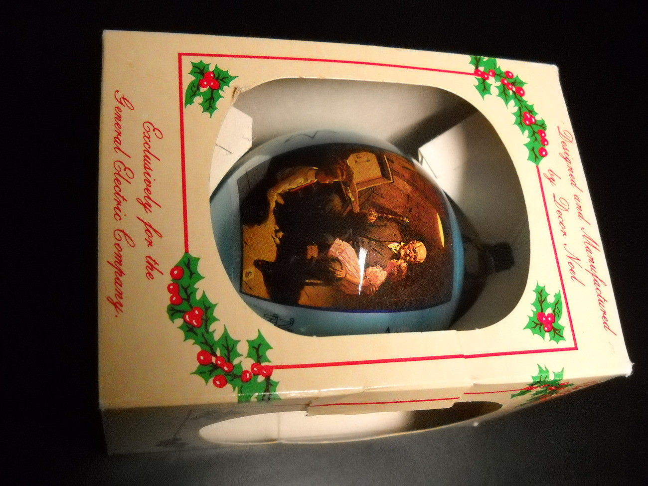 Primary image for General Electric Ornament 1985 Rockwell She Was A Queen I Was King 2nd in Series