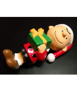 Peanuts Ornament Charlie Brown with Present Kurt Adler Santa's World Box... - $12.99