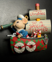 Enesco Christmas Ornament Sea-sons Greetings Teacher 1995 Gilmore Design... - $9.99