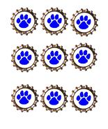 Blue Paw Bottlecap -Download-ClipArt-ArtClip-Bottle Cap-Digital - $4.00