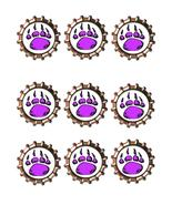 Purple Paw Bottlecap -Download-ClipArt-ArtClip-Bottle Cap-Digital - $4.00