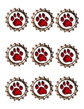 Red Paw Bottlecap -Download-ClipArt-ArtClip-Bottle Cap-Digital - $2.00
