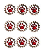 Red Paw Bottlecap -Download-ClipArt-ArtClip-Bottle Cap-Digital - $4.00
