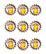 Yellow Paw Bottlecap -Download-ClipArt-ArtClip-Bottle Cap-Digital - $4.00