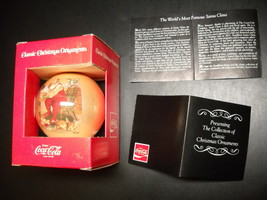 Coca Cola Classic Christmas Ornament Haddon Sundblom Santa In Original Box - $8.99