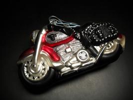 Department 56 Mercury Glass Hanging Ornament Handblown Handpainted Motorcycle - $29.99