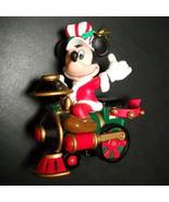 Enesco Treasury of Christmas Ornament Mickey Mouse Disney on Train Engin... - $7.99