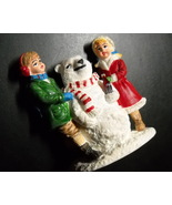 Coca Cola Town Square Collection Accessory 1994 Polar Bear Snowman with ... - $9.99