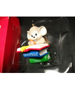 Hallmark Keepsake Ornament 1989 Titled Teacher A Mouse Sits Atop Mound O... - $8.99