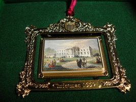 Christmas 1997 The White House Historical Association Franklin Pierce South Lawn - $15.99