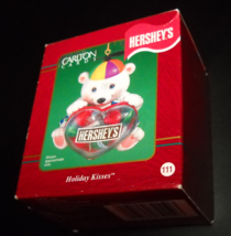 Carlton Cards Heirloom Ornament 2001 Hershey's Holiday Kisses Boxed Tiny... - $11.99