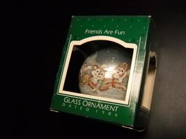 Hallmark Keepsake Glass Bulb Ornament 1986 Friends Are Fun Eskimos and S... - $13.99