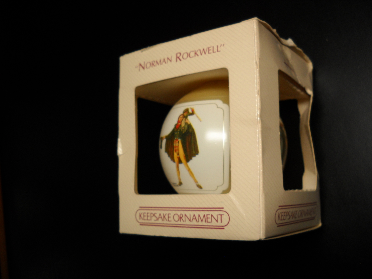 Primary image for Hallmark Keepsake Christmas Ornament 1984 Glass Bulb Norman Rockwell Collection